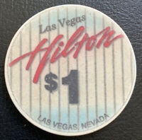 $1 Casino Chip - Las Vegas Hilton - Las Vegas, Nevada - 1994 Stripes Gaming Chip