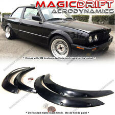 4-PCS Polyurethane Fender Flares Kit for 84-92 BMW E30 Coupes 3-series 318i 325i