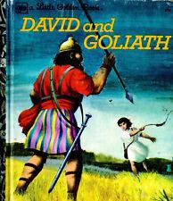 "LITTLE Golden Book - ""David & Goliath"" -  by Barbara Shook Hazen, (1970s)"