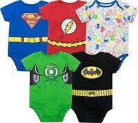 Warner Bros. Justice League Baby Boys' 5 Pack Superhero  - All SuperHeroes