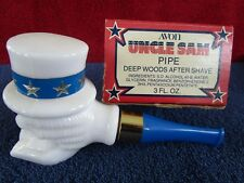"""Avon Uncle Sam Pipe Decanter With Box 6 1/2"""" Long & 3 1/2"""" Tall Empty Fs"""