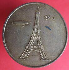 Old France -Eifel Tower visit souvenir de mon ascension - brass -more on ebay.pl