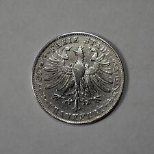 1844 German States Silver 1 Gulden Coin Frankfurt Mint