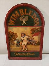 Vintage Wimbledon wooden wall decor