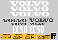 Volvo Ec50 Aufkleber Bagger Komplettset mit Sicherheit Warnung