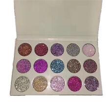 15 Color Rhinestone Glitter Rainbow Eye Shadows Cosmetic Pressed Palette New WOW