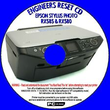 EPSON STYLUS PHOTO RX580 WASTE INK PAD COUNTER ERROR RESET REPAIR FIX CD NEW