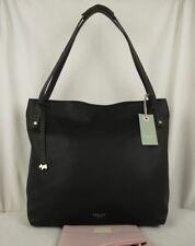 """Radley """"Willow"""" Large Soft Black Leather Hobo Shoulder Bag Workbag RRP £219"""