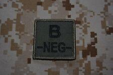 G013 grade militaire galon Armée insigne Airsoft Groupe Sanguin B Négatif