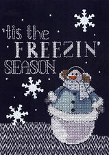 Cross Stitch Kit ~ Janlynn Freezin' Season Holiday Snowman #025-0103