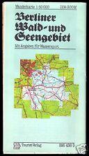 Wanderkarte, Berliner Wald- und Seengebiet, 1981