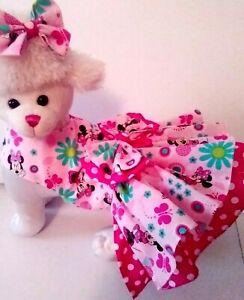 Dog Dress/Harness  MINNIE MOUSE pink  DRESS  NEW  FREE SHIPPING
