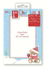 Pack of 8 Babys First 1st Christmas Cards Personalised Add Photo Boy / Girl BCAD