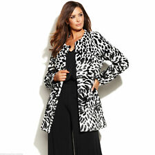 MICHAEL KORS Animal Print Faux Fur Coat Size XS BNWT