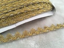 17mm Gold embroidery Lace Curtain Crown Rococ Ric Rac Wedding Craft Per Meter