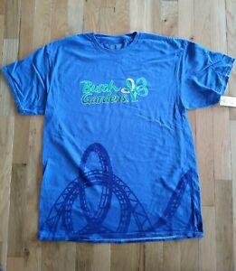 Busch Gardens Blue Roller Coaster Adult L Large T-shirt