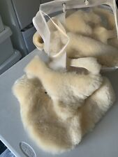 Cream Genuine Sheepskin Pieces Offcuts Remnants,arts,craft,toys,collage,pets
