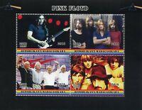 Madagascar 2018 MNH Pink Floyd Rock Band 4v M/S Music Guitars Stamps