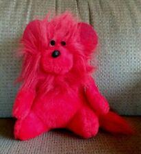"9"" Red Monkey Gorilla Stuffed Animal With Black Eyes And Black Nose"
