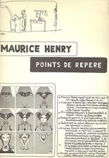 HENRY Maurice, Points de repère, Sergio Tosi 1967