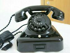 Siemens&Halske Telefon w48 Telephone Old Bakelit Antik 100%Funktion 50er Jahre
