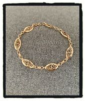 Bracelet Motifs Ciselés En Plaqué or 18 CARATS 750/1000 Bijoux Femme
