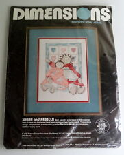Dimensions Counted Cross Stitch 'Vintage Dolls Sarah and Rebecca' Kit #3619