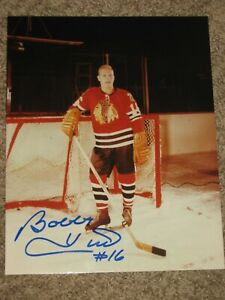 AUTOGRAPHED 8X10 CHICAGO BLACKHAWKS Bobby Hull picture