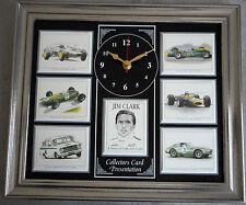 Jim clark formula one superbe collector cartes horloge murale
