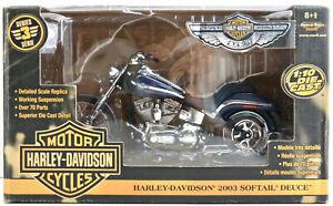 2003 American Muscle Harley Davidson Softail Deuce Motorcycle Diecast 1:10 NIB