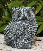 Steinfigur Eule Vögel Gartenfigur Tierfigur Dekofigur Steinguss frostfest