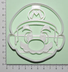 Mario Head Cookie or fondant  Cutter 3d printed