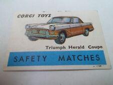 Allumette - TRIUMPH HERALD COUPE - CORGI TOYS - SAFETY MATCHES - BELGIQUE - (79)