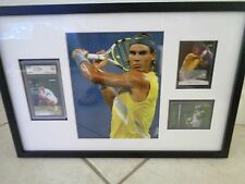 "Rafael Nadal 21"" x 14"" Framed Autograph / Rookie / Shirt Cards & Pic Framed 1/1"