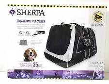 New listing Sherpa Forma Frame Pet Carrier, 35Lbs. Black.-V160*