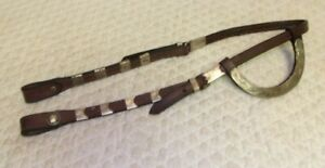 DURABLE  - Western Leather Silver SHOW Headstall - Full/Average - UNIQUE - LOOK