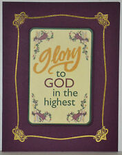 """Set 12 MAGNETIC CARD Christmas Greetings """"GLORY to GOD in the HIGHEST"""" FREE SHIP"""