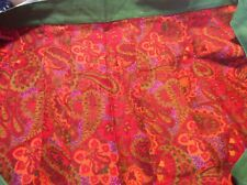 Handmade Colorful Pleated Tapestry Print Half Apron