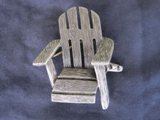 Adirondack Armrest Chair Pin Brooch - Jewelry - Furniture Rest Relax Rustic NEW