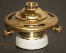 "Shade Holder Light Bulb Socket vintage Brass Porcelain 2 1/4"" fitter lamp Edison"