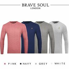 Mens Cable Knit Jumper By Brave Soul Premium Maoism Top RRP £35
