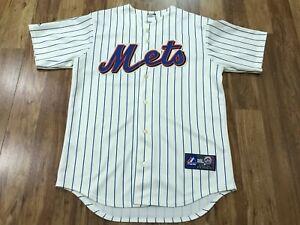 MENS MEDIUM - Vtg MLB New York Mets #5 Wright Majestic Sewn Jersey USA