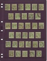 King George V Australia one penny (1d) green pre-decimal stamps packet of 100