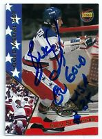 Buzz Schneider Signed Auto 1995 Signature Rookies Miracle on Ice Card Team USA