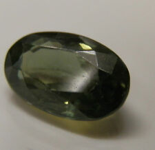 Natural earth-mined green/yellow sapphire oval gemstone...1.89 carat gem
