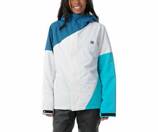 DC Shoes Fuse Jacket Women Snowboard Ski Waterproof 80g Insulated Teal White XS