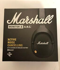 MARSHALL MONITOR II ANC WIRELESS BLUETOOTH NOISE-CANCELLING HEADPHONES BLACK NEW