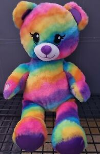 Build A Bear Workshop cuddly RAINBOW Bear multicolour see photos