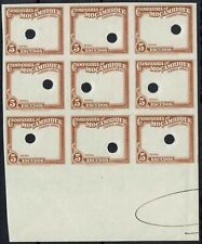 MOZAMBIQUE COMPANY 1935 AIRMAIL 5E FRAME ONLY IMPERF PROOF BLOCK MNH **