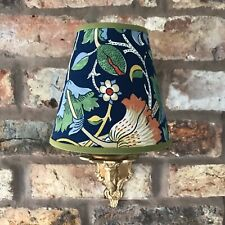 William Morris Lodden - Medium Candle Clip Lampshade Wall/Base